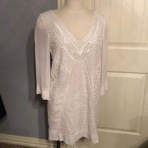 Evissa Beaded 3/4 sleeve Dress